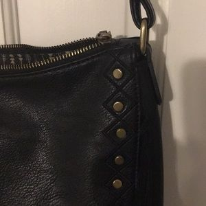 sasha + sofi Bags - Great condition black leather crossbody w/ fringe